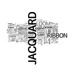 Jacquard ribbon text background word cloud concept vector