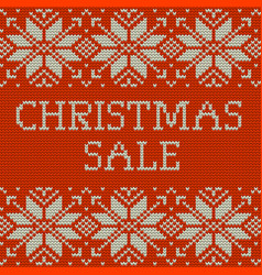 knitted christmas sale template banner eps 10 vector image vector image
