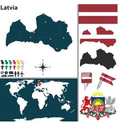 Latvia map vector image