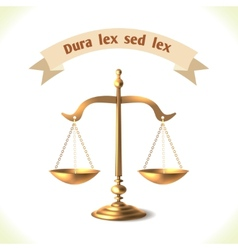 Law icon court scale vector
