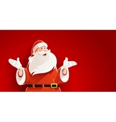 Merry santa claus telling vector