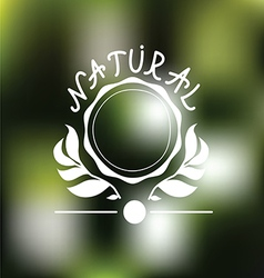 Natural emblem design vector