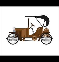 Old car or vintage retro collector auto vector
