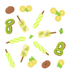 popsicles top view vector image vector image