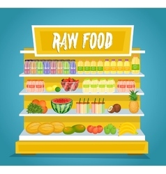 Raw vegetarian food concept in flat design vector