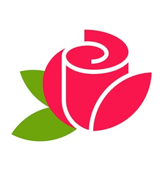 Rose - flower icon vector image vector image