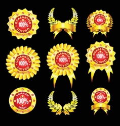 set of golden badges vector image vector image