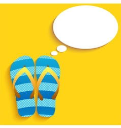 slippers Thinkink vector image vector image