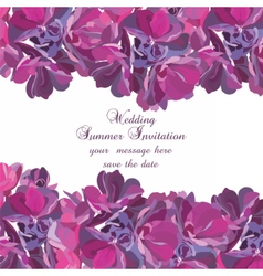 Spring Summer Flower card vector image vector image