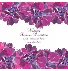 Spring summer flower card vector
