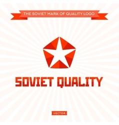 Star logo arrow soviet quality icon sign vector