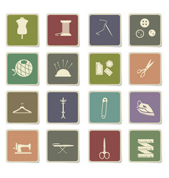 Tailoring icon set vector