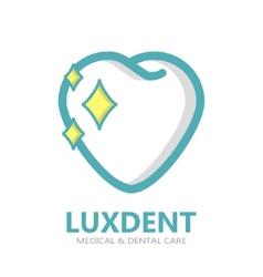 Teeth logo or symbol icon vector