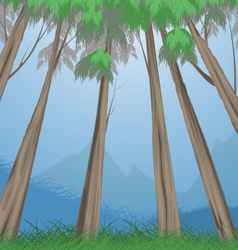 Trees tropical vector