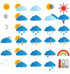 weather broadcast icons vector image