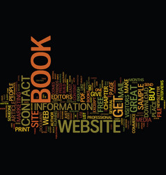 Your book and a great website text background vector
