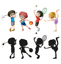 Children doing different sports vector image
