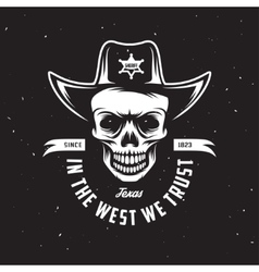 In the west we trust t-shirt design vector image