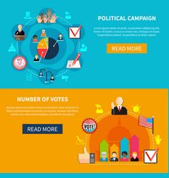 Election campaign agitation vector