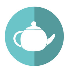Teapot beverage ceramic shadow vector