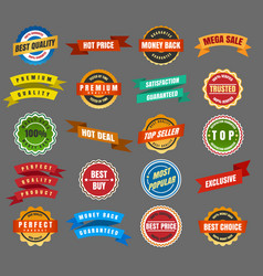 Round labels and stickers vector