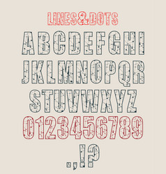 Decorative alphabet font vector