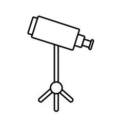 Telescope icon image vector