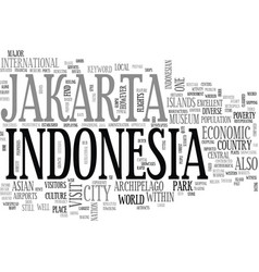 Jakarta indonesia text background word cloud vector