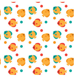 colorful fish seamless pattern abstract ornament vector image