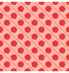 Floral seamless pattern with repeating rose vector