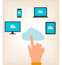 Flat design concept of cloud computing concept vector image