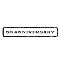 50 anniversary watermark stamp vector image vector image