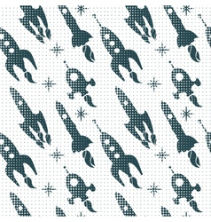 rocket ship pattern vector image