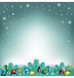 Christmas tree toys vector