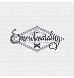 Snowboard badge and label it can be used to design vector