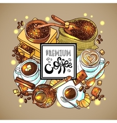 Coffee for your design vector