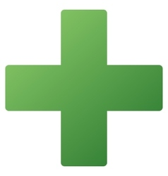 Medical cross gradient icon vector