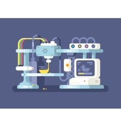 Printing device flat design vector