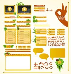 Elements for eco friendly web design Big grass set vector image
