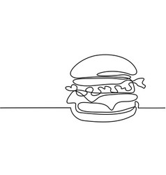 Big hamburger with french fries vector