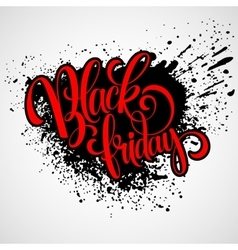 Black Friday Sale Calligraphic Design vector image