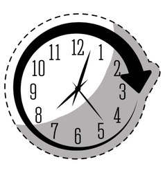 Black wall clock icon image vector