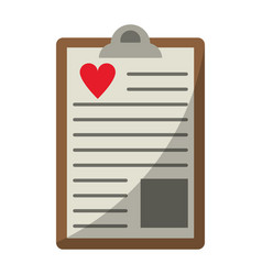 clipboard heart report vector image