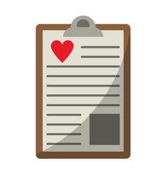 Clipboard heart report vector