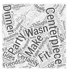 Easy centerpieces word cloud concept vector