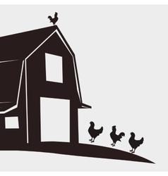 Farm design stable icon flat vector