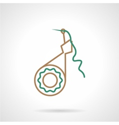 Flat line icon for filar sewing tool vector image