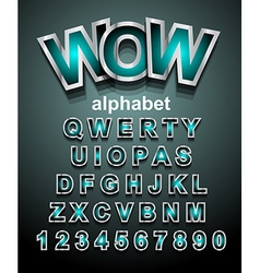 Funny colorful alphapet font to use for childrens vector