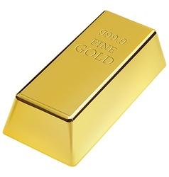 Gold bar vector