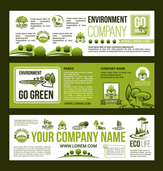 green company business banners set vector image vector image